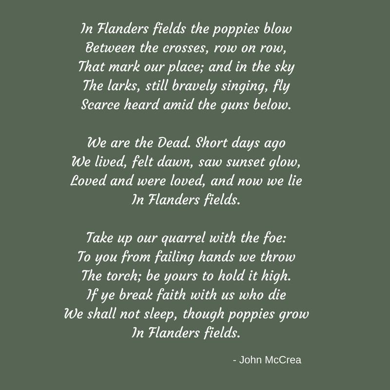 In Flanders fields poem - edited FINAL