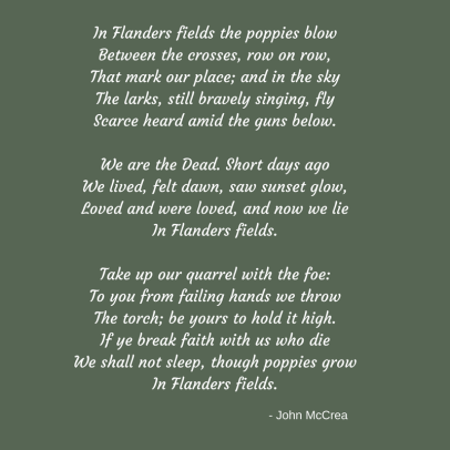 In Flanders fields poem - edited FINAL