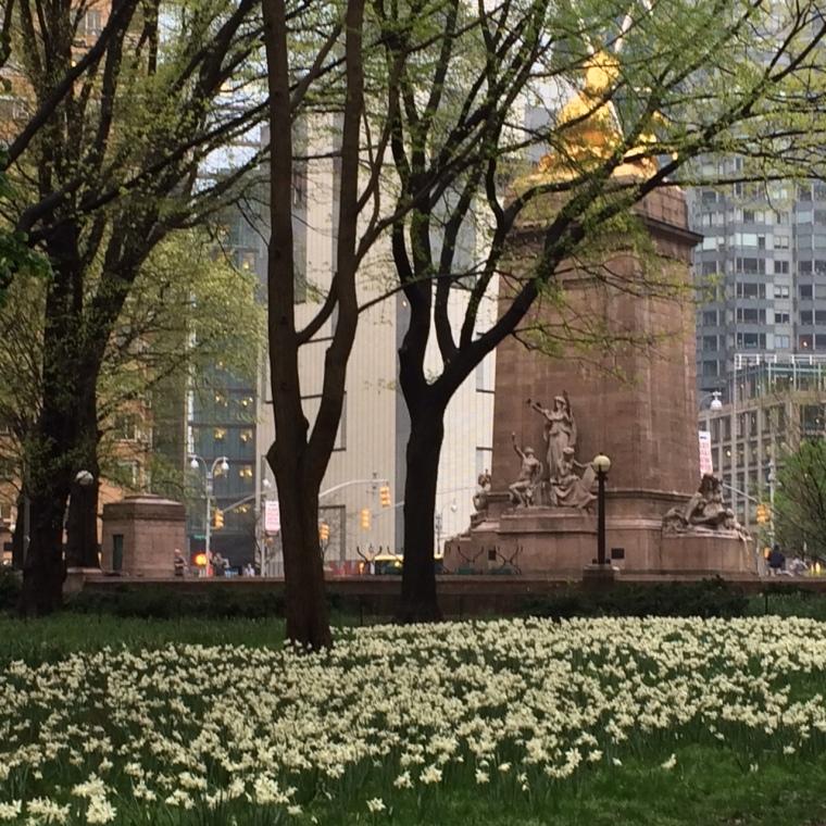 2 tulips Columbus Circle