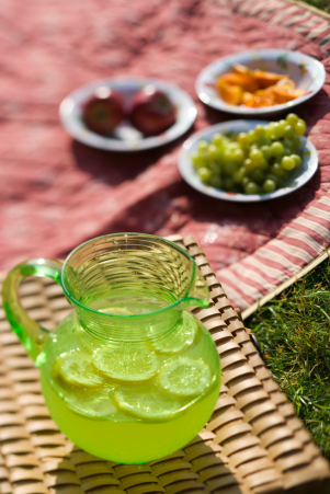2 green pitcher lemonade C
