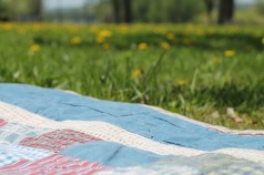 old quilt picnic