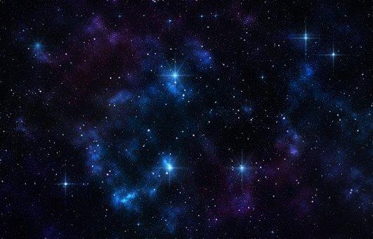 blue stars night
