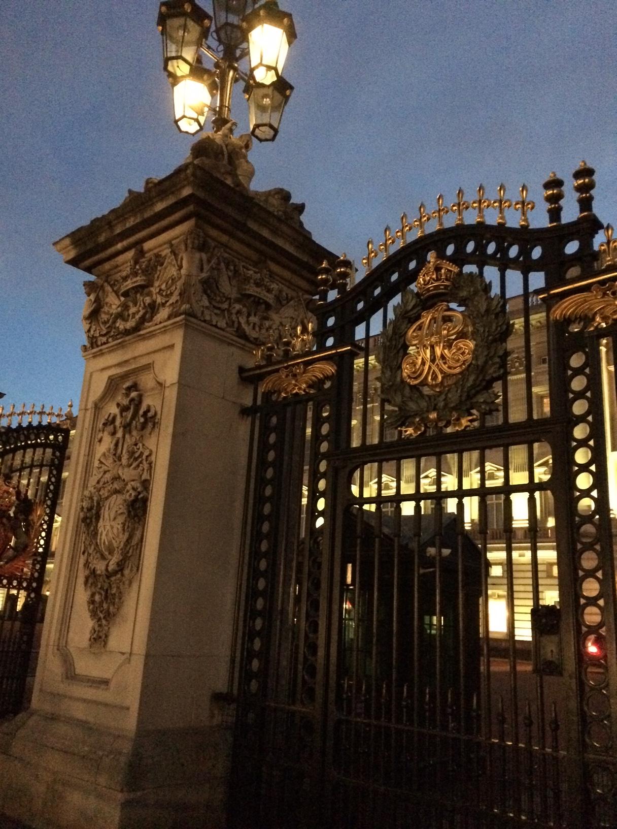 Buckingham closeup night