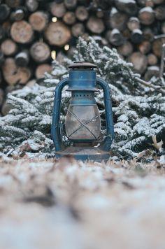 lantern woodpile
