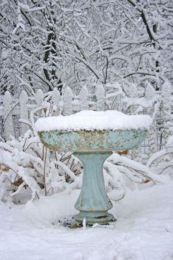 birdbath snow