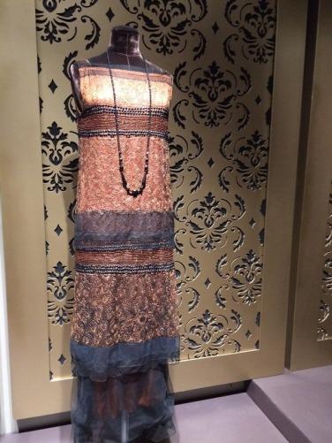 crop copper gray dress