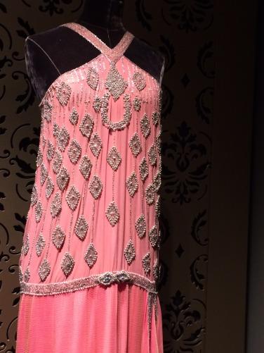 crop coral dress