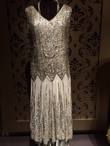 crop silver dress