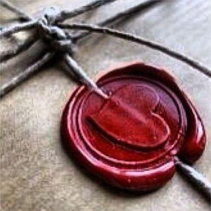 V red heart seal