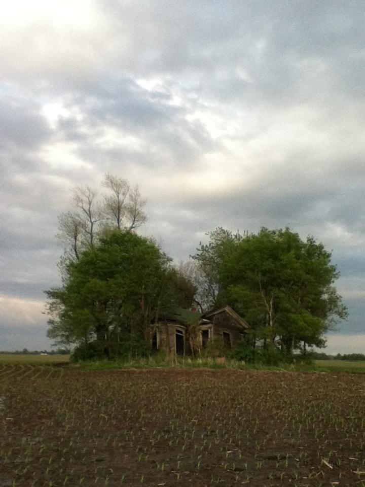 worn farmhouse