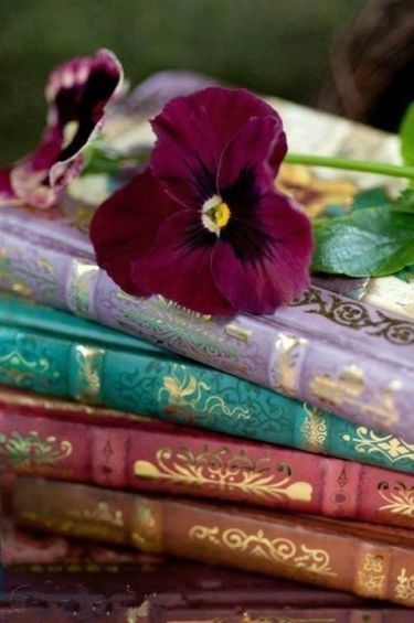 books and flowers 2