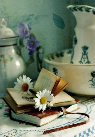 books and flowers 4