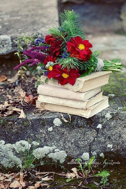 books and flowers 5