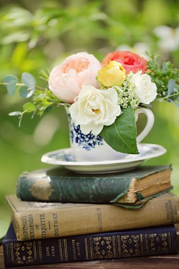 books and flowers 8