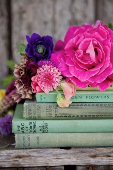 flowers and books 1