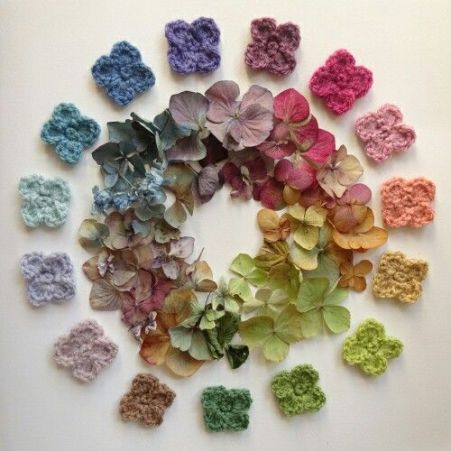 hydrangea colors crochet