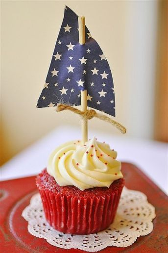 July 4th food cupcake