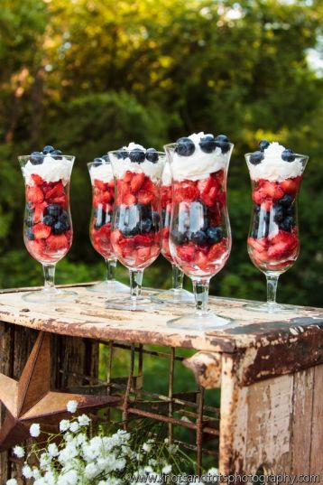 July 4th food parfaits