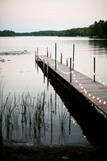 summer dock lights