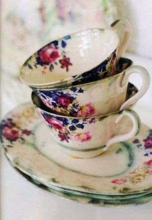 old floral cups