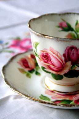 rose cup and saucer