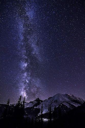 Mt. Rainier night