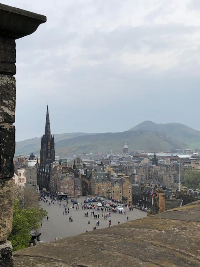 Arthur's seat from castle