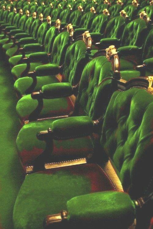 green opera chairs