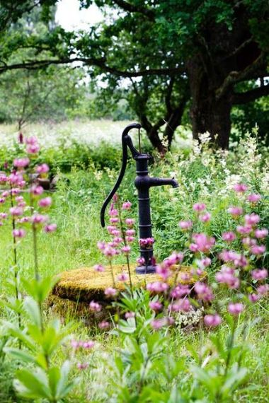 pump and flowers