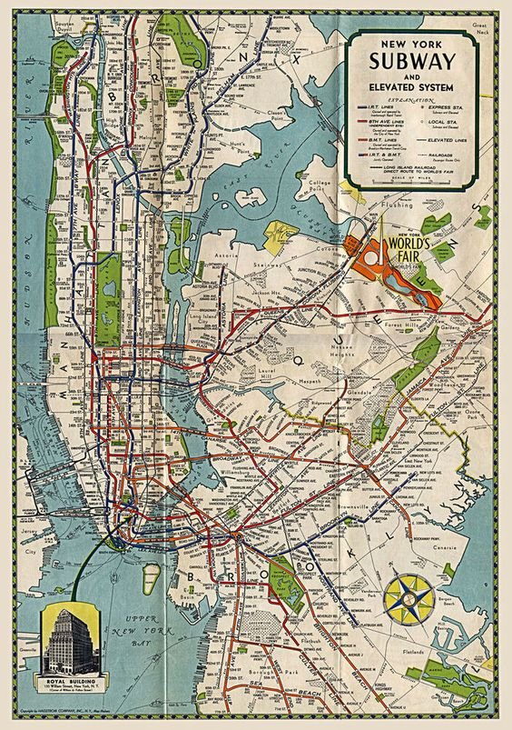 1939 subway map