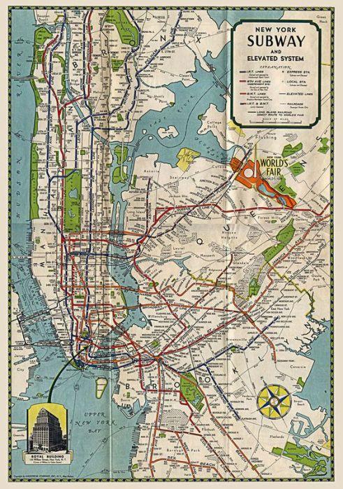 1939 subway map