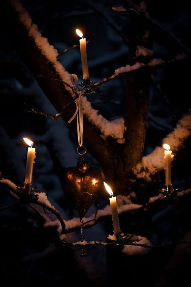 U tree candles heart