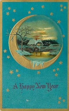 HNY blue moon card
